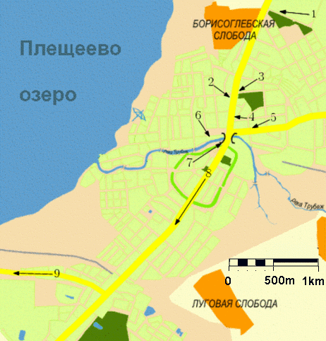 Pereslavl map