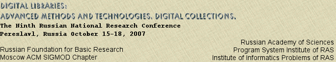 Digital libraries: advanced methods and technologies, digital collections